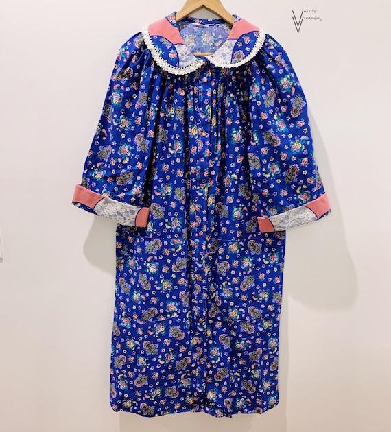 Vintage 50s Floral Housecoat/Robe