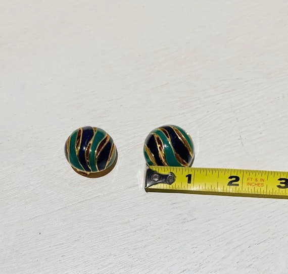 Vintage 80s Lanvin Paris Enamel Earrings - image 7