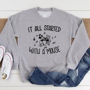 cardigan minnie mouse mickey sweater kitsch Vintage MICKEY  MOUSE Sweater...walt disney disney world sweater cute gray minnie