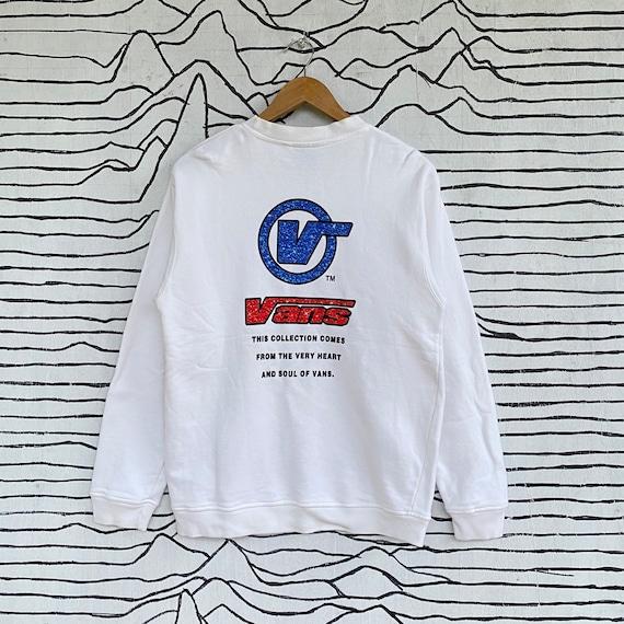 Vintage Vans Sweatshirt Big Logo Made in Usa