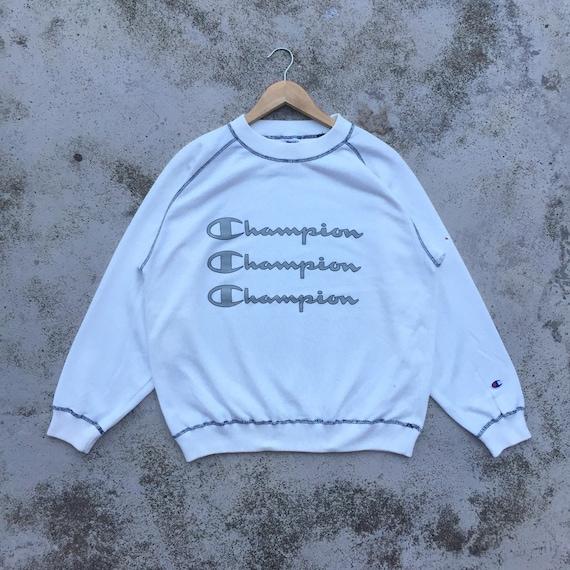 Champion Sweatshirt White Spellout