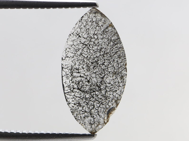 RG-261 Salt and pepper diamond Flat Slice Marquise cut Gray 1.44 Ct