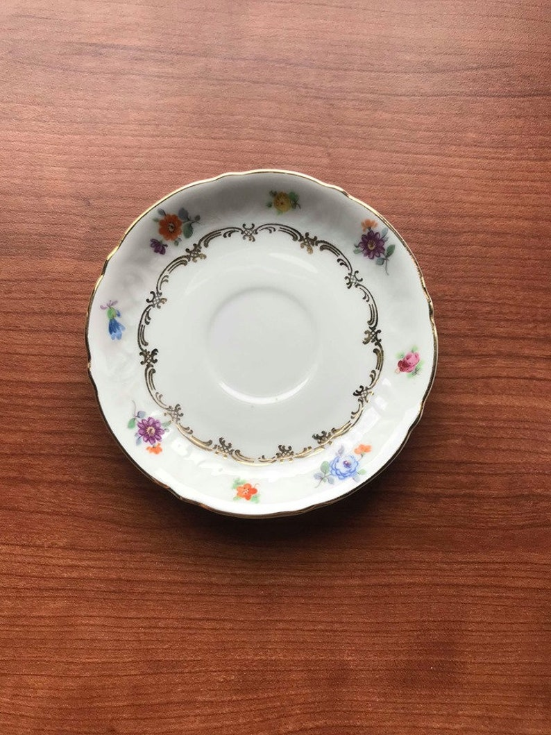 Cup and Saucer Germany Schumann US Zone Vintage Bavarian China