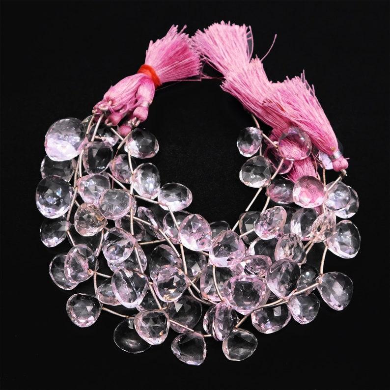 Natural Pink Amethyst Faceted Heart Shape Beads 15-18mmApprox Handmade Gemstone Pink Amethyst Faceted Heart Shape Beads 8.5/'/' Full Strand