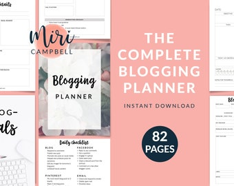 photo relating to Blog Planner Template named Running a blog planner Etsy
