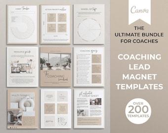 Canva Coaching Lead Magnet Templates, Life Coach, Business Coach, Coaching Ebook, Coaching Workbook, Coaching Templates, Coaching Worksheets