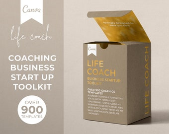 Coaching Business Start Up Toolkit, Canva Coaching Business Template Bundle, Life Coach Templates, Business Coach Templates, Canva Templates