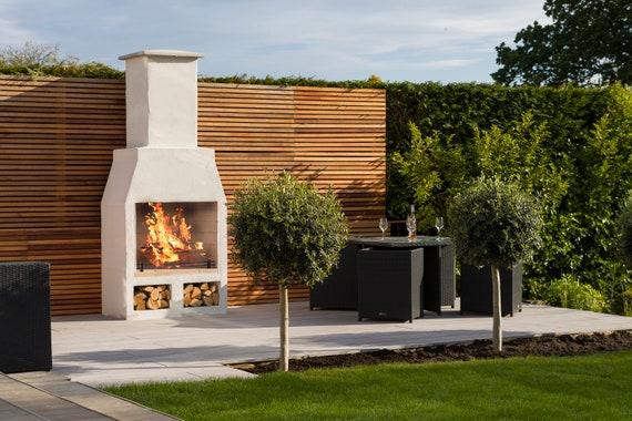 Outdoor Volcanic Pumice Garden Fireplace Etsy