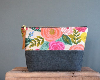 Zipper Pouch Pattern, 5 Sizes, Fully Lined, Zip Pouch PDF, Beginner sewing Pattern, Instant download,