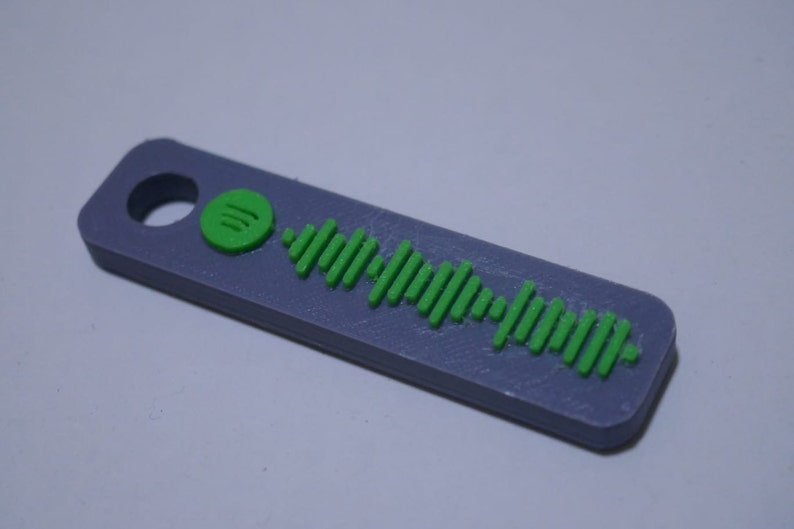 3D Printed Spotify Song Code Keychain keychain music