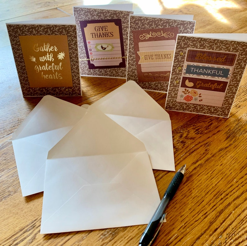 Thanksgiving Giving Thanks Greeting Cards  Set of 3 image 0