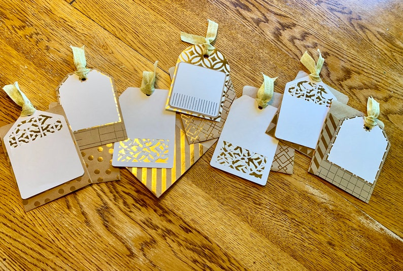 Gift/Present Tags with Sleeves  Set of 7 image 0