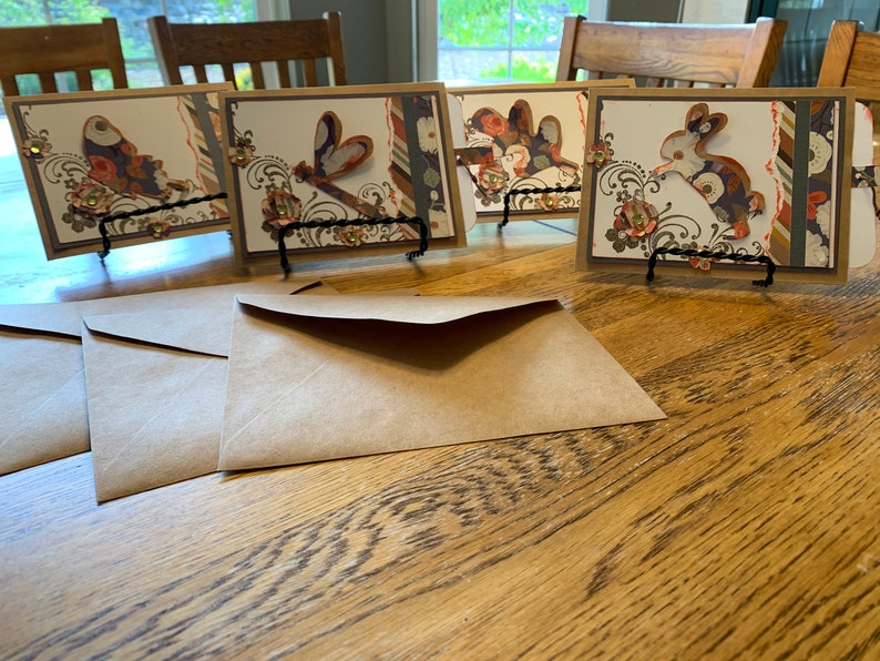Brown Bag Cards and Quote Tag Set of 4 Greeting Cards image 0