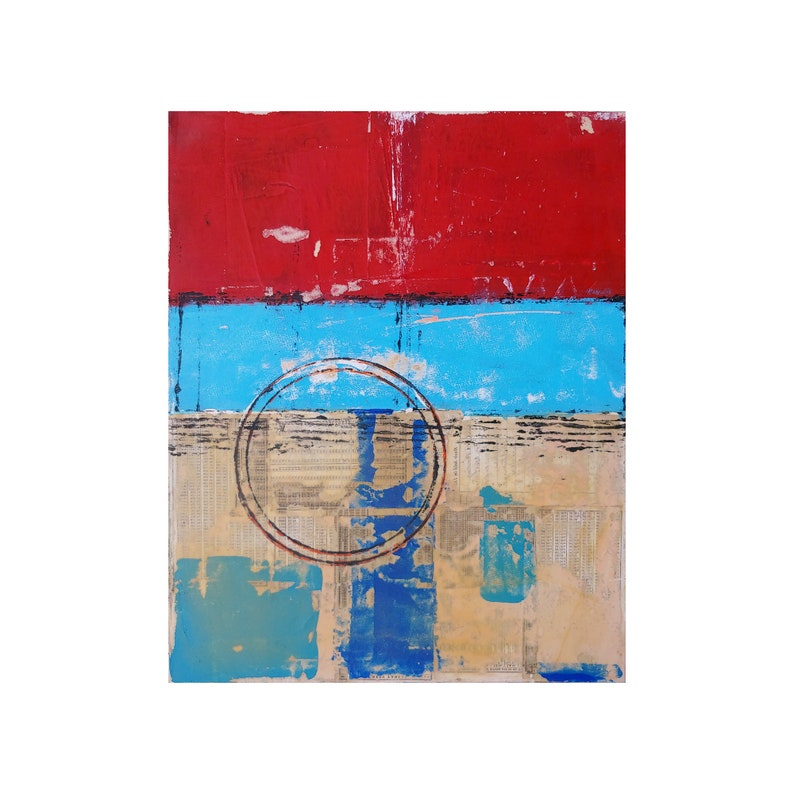 Love Letters Abstract Art Original Painting On Canvas Blue image 0
