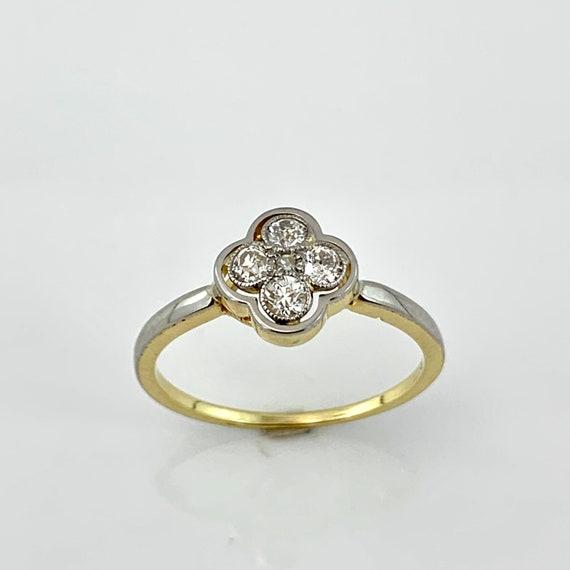 Edwardian Quatrefoil Diamond Ring