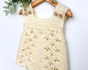 Crochet Pattern Baby Dress / Pinafore - newborn to 36 months