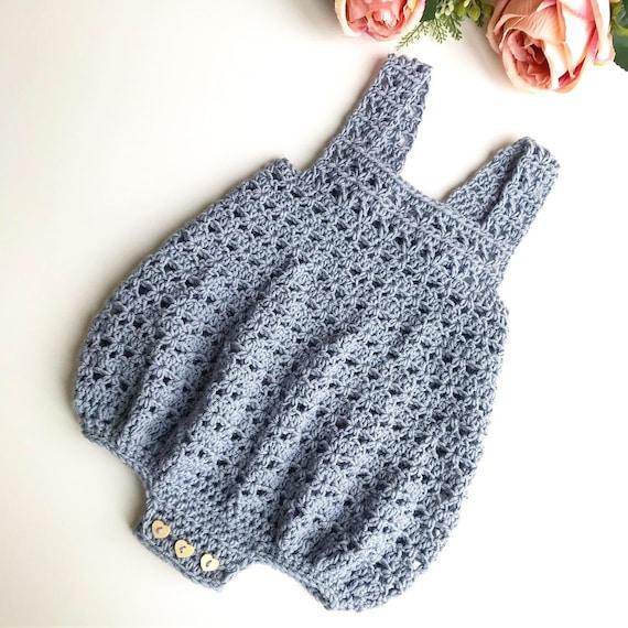 Crochet Pattern Baby Romper  Newborn to 36 months