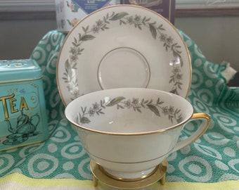 Vintage 1950s Royal Jackson Bone China Teacup and Saucer