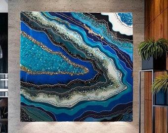Epoxy resin wall art | Etsy