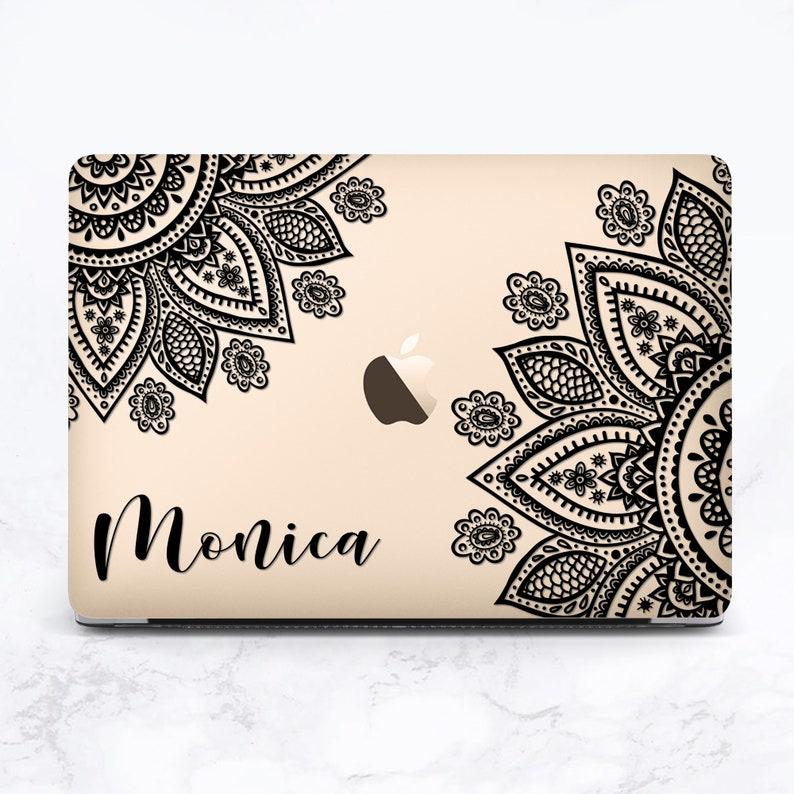 Custom MacBook Case Mandala MacBook Pro 13 inch Case Personalized MacBook Air Case Named MacBook Pro 15 Case Mac Retina 15 in clear MacBook