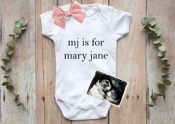 N is for Name Onesie Letter and Name Onesie Custom Name Onesie Gender Neutral | Baby Name Announcement