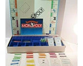 Monopoly Deluxe Anniversary Edition Board Game Complete Gold Tone Tokens 1985