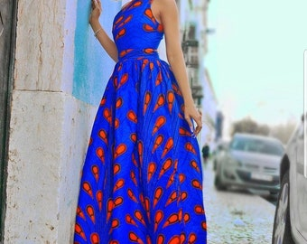 8bfa812788 Blue electric bulb african maxi dress,ankara maxi dress,dashiki dress,african  clothing for women,ankara women clothing,african shop