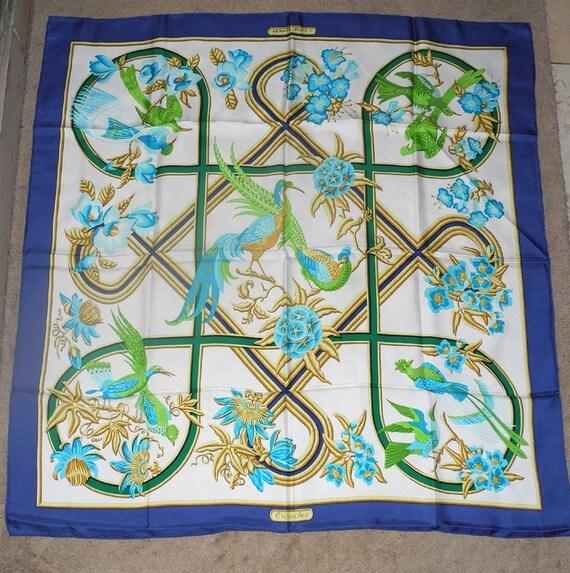 VINTAGE HERMES Caribbean-style silk square