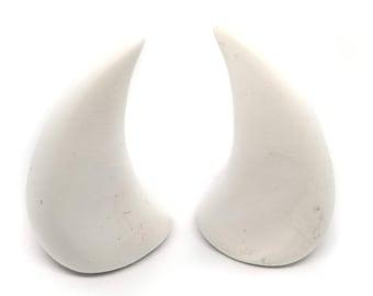 WHITE HORNS | Large | Glue On | Demon Horns