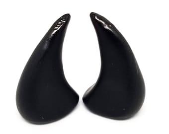 BLACK HORNS | Large | Glue On | Demon Horns