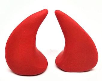 RED HORNS | Large | Glue On | Demon Horns