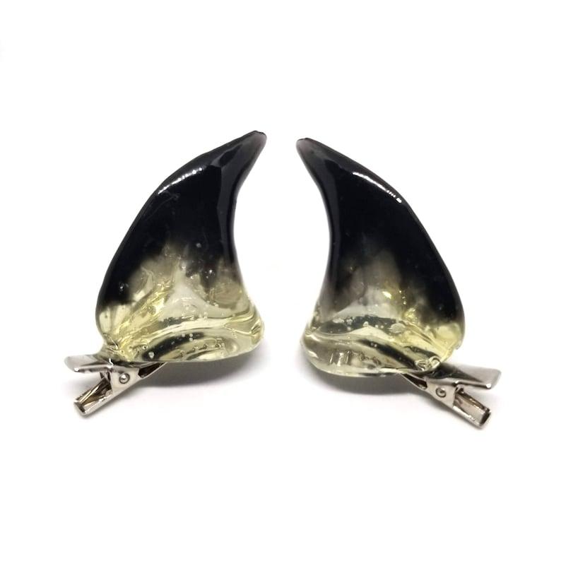 BLACK INK  Resin Clip-On Devil Horns image 0