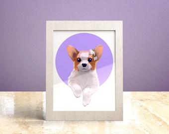 Custom dog portrait, Digital dog portrait, Pet Loss Gift, Personalized Pet Drawing, Custom Birthday Gift for her