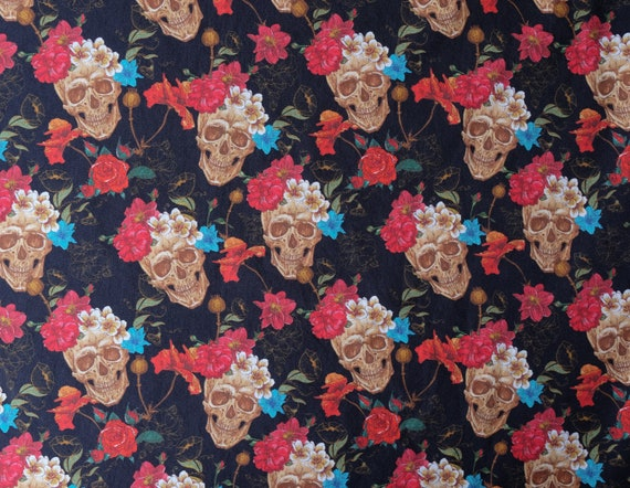 WIDE GREY RED CHRISTMAS POINSETTIA Fabric Rose /& Hubble 100/% Cotton X HALF METRE