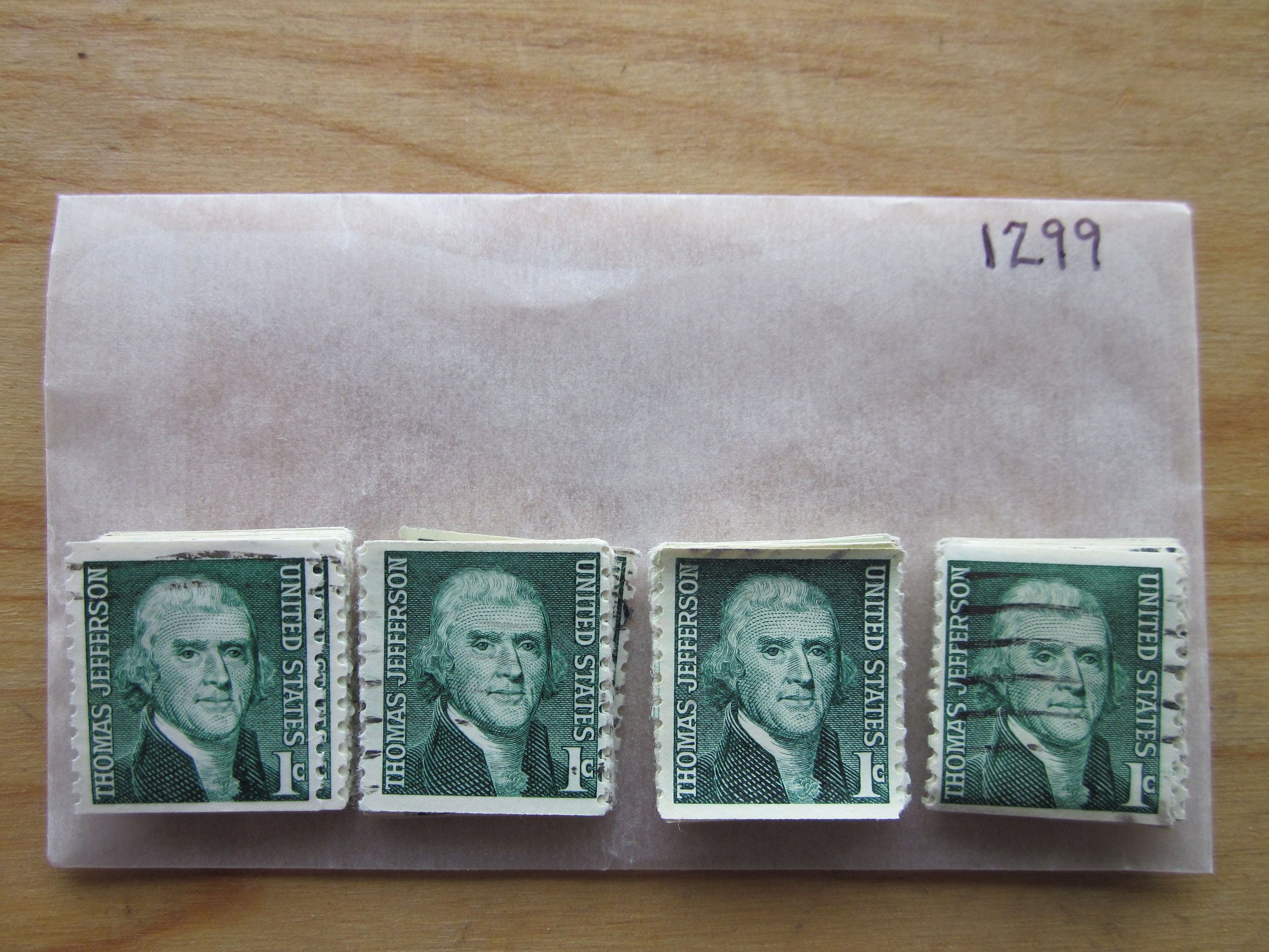100 Used US Stamps  #641 Thomas Jefferson Issue  See our other lots