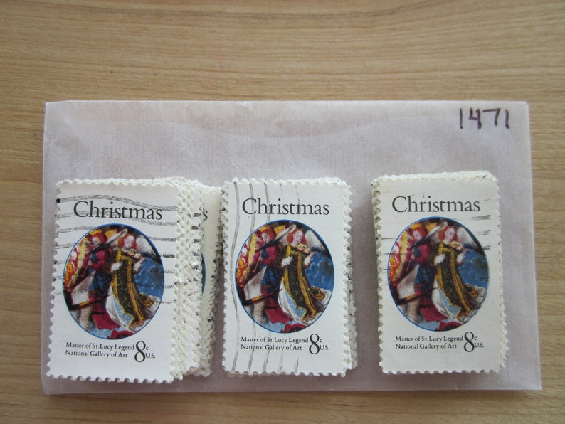 Full Set #1471-1472 Christmas 1972 Issues x 100 Used US Stamps of Each Issue