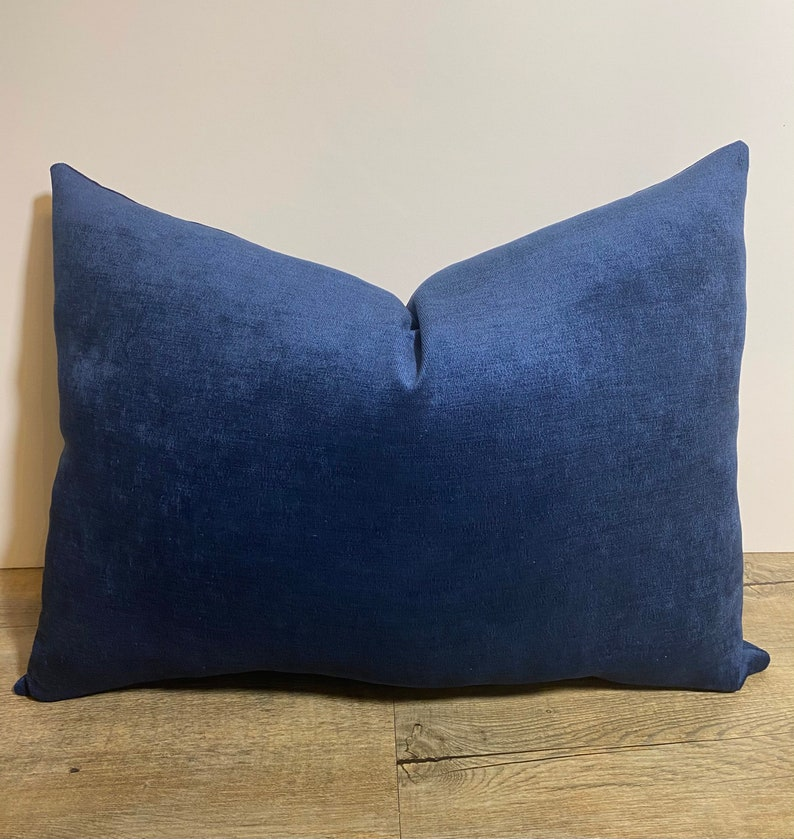 Home Decor Solid Navy Blue Lumbar Pillow-Navy throw pillow-Lumbar Pillow Lumbar Pillow Decorative Pillow Luxury Navy Pillow