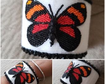 Native American Beaded butterfly bracelet