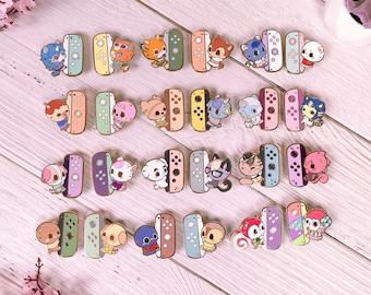 Animal Crossing Gimme my Joycon 2 Enamel Pin | KK Sherb Raymond Roald Cookie Rosie Coco Fauna Beau Diana Zucker Marina Maple Flick