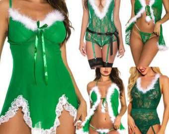 Mature women in sexy christmas lingerie and heels Sexy Gift Idea Etsy