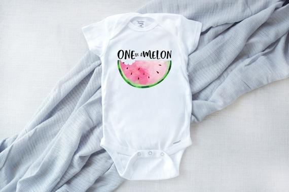Cute Baby Onesie Melon Onesie Foodie Onesie Fruit Onesie Watermelon Onesie Summer Onesie Picnic Onesie One In A Melon Onesie\u00ae