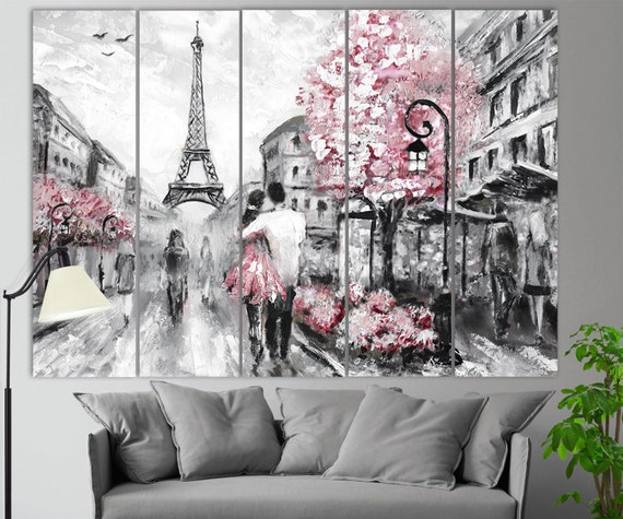 Pink Paris Eiffel Towel Wall Art Printing Canvas Framed Home Decor Picture Gift.