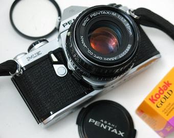 Pentax ME 35mm SLR Film Camera with 50mm 1.7 Prime lens + Kodak film + new Light Seals +  Free Shipping USA / Canada