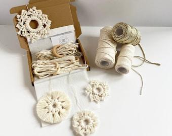 D.I.Y. Macrame Snowflakes - Small