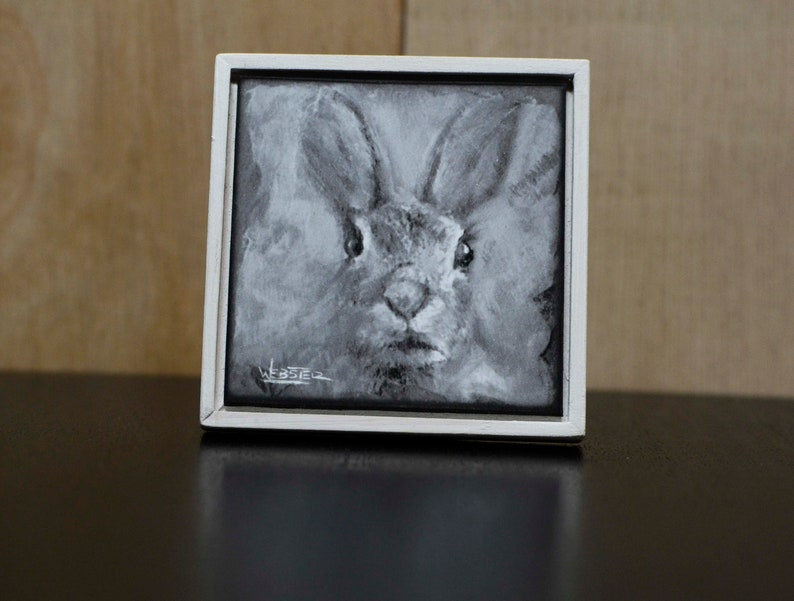Hare-Giclee Print-Unique Gift-Home Decor-Framed-Magnetic image 0