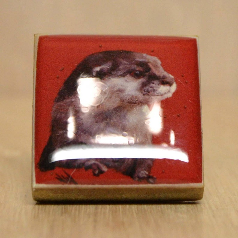 Otter-Fridge Magnet-Unique Gift-Home Decor-Giclee Print image 0