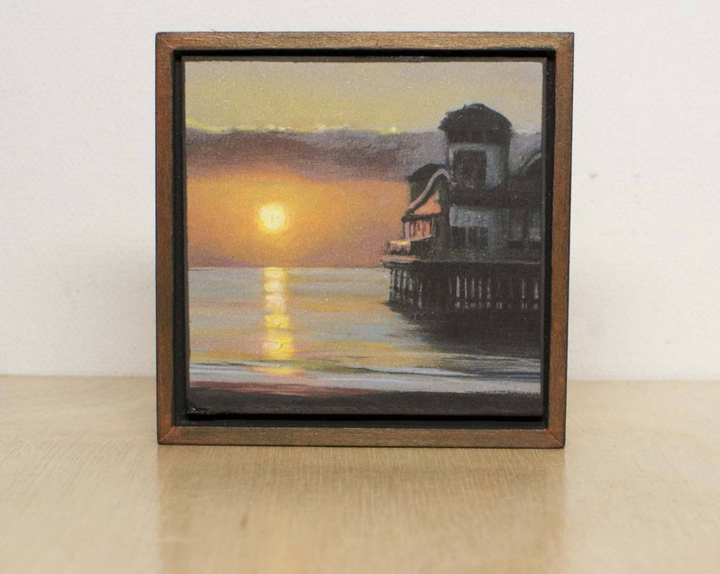 Pier At Sunset-Giclee Print-Unique Gift-Home Decor-Burnt image 0