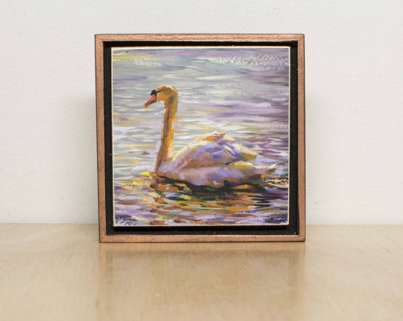 Peaceful Swan-Giclee Print-Unique Gift-Home image 0