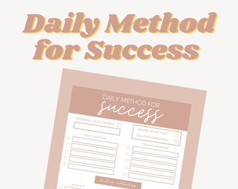Bon Babe Daily Method for Success Template / Digital Download