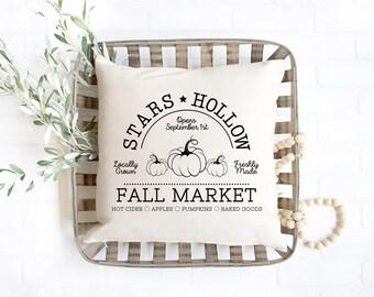 Stars Hollow Pillow / Rory and Lorelai Gilmore Fall Market / Dragonfly Inn / Luke's Diner / Gilmore Girls Home Decor